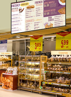 Bakery digital signage menu board from DSMenu