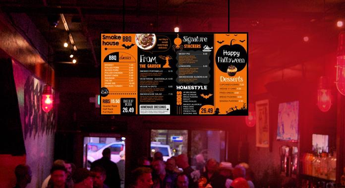 Halloween-Special Digital Signage Menu Boards from DSMenu