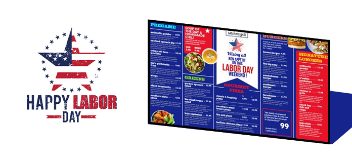 Labor Day Menu Boards from DSMenu