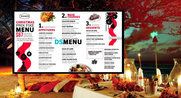 Christmas Day Special Digital Signage Menu Boards from DSMenu