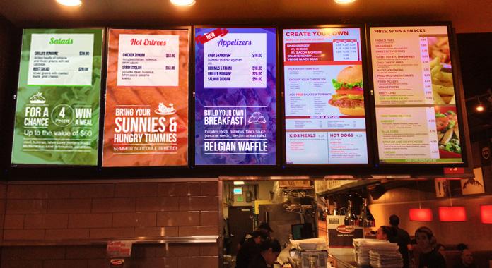Multi-Screen Digital Menu Boards With A Single Menu Design Theme from DSMenu