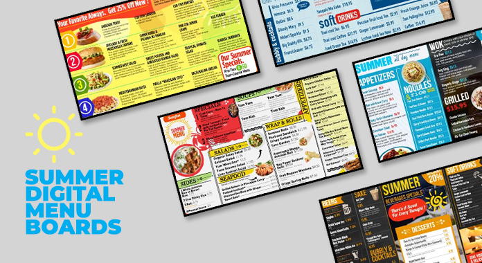 Summer Foods And The Digital Menu Boards from DSMenu