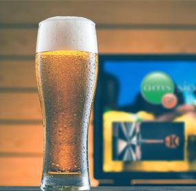 Digital menu boards for bars