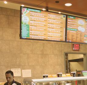 Digital menu boards for Cafetoria