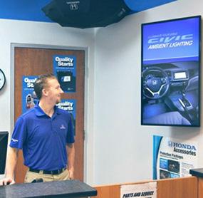 Digital menu boards for garage or car service