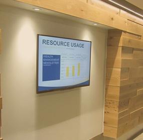Digital menu boards for Corporate Office