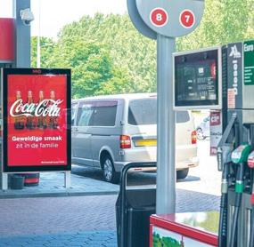 Digital menu boards for Gas station