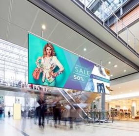 Digital menu boards for shopping mall