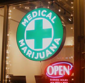 Digital menu boards for medical marijuana clinics