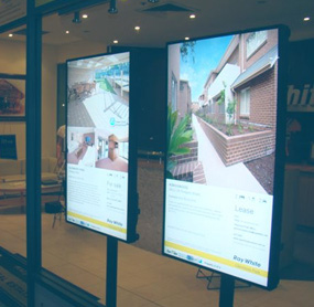 Digital menu boards for real estate