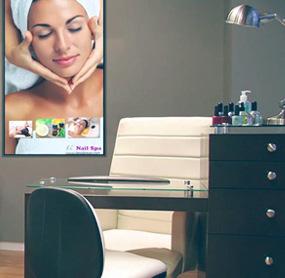 Digital menu boards for salon