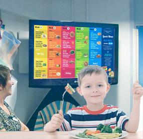 Digital menu boards for schools
