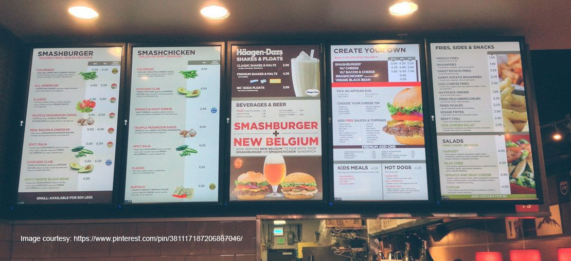 Major benefits of custom digital signage menu in restaurants