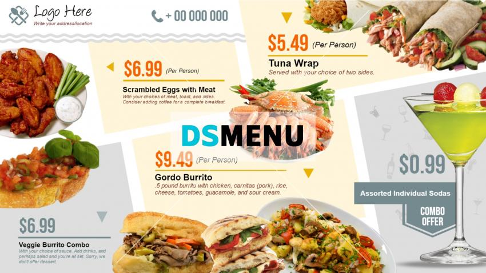 Custom Digital Menu Boards For Restaurant Cafe Qsr Fast Food