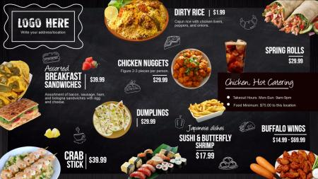 Lunch signage menuboard design from dsmenu chalk menu board digital signage template maxwellsz