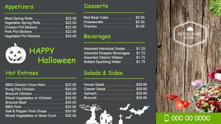 Restaurant menu boards | Digital Signage Template