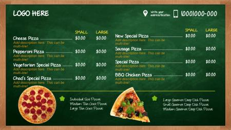 Chalkboard menu | Digital Signage Template