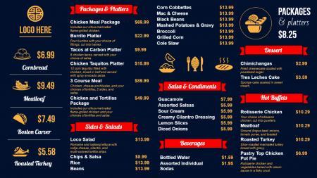 Sandwich Digital Signage Menu Board Design from DSMenu