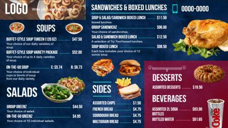 DSmenu Digital Signage Menu Board - Digital menu board templates
