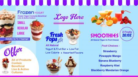 Ice cream parlour menu Design