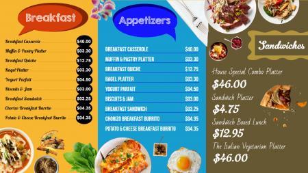 Restaurant menu templates Design