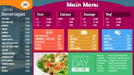 Restaurant menu design Design