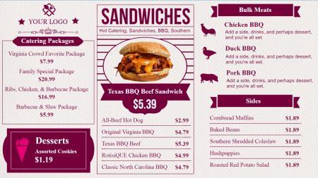 Bar and grill menu templates Design