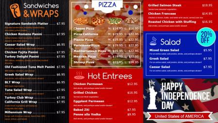 Restaurant menu boards | Digital Signage Template