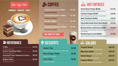 coffee  menuboard | Digital Signage Template