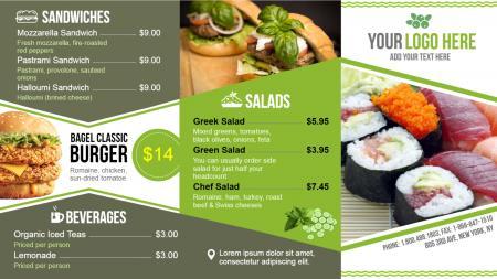 burger menu | Digital Signage Template