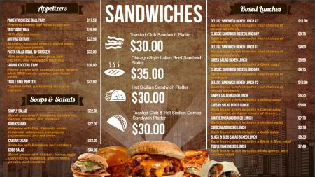 Fast food menu | Digital Signage Template