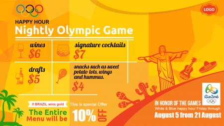 olympics games menu offer | Digital Signage Template
