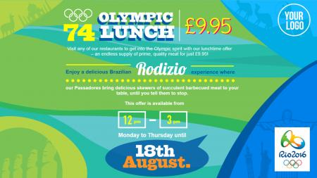 olympic special menu offer | Digital Signage Template