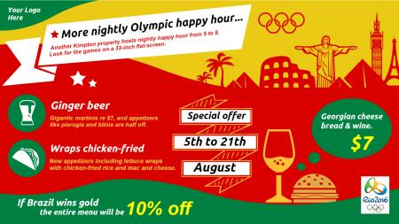 olympic special menu board | Digital Signage Template