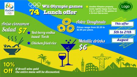 olympic special menu | Digital Signage Template