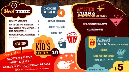 kids menu board | Digital Signage Template