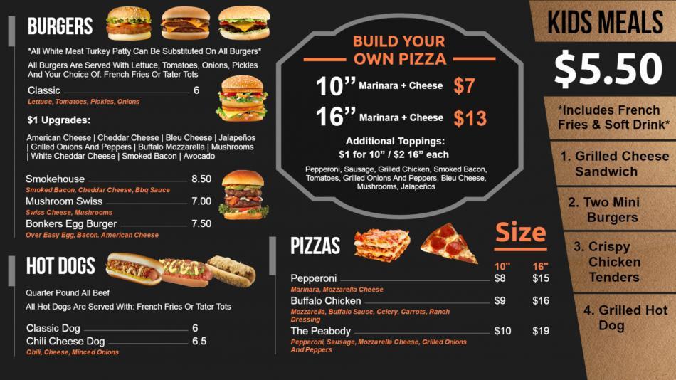 Bistro grill menu board design template for digital signage for restaurants