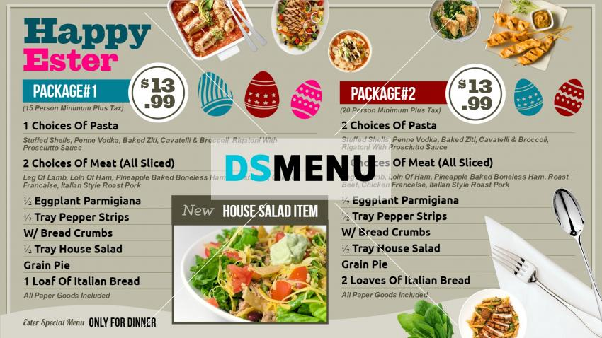 Happy Easter Restaurant menu templates