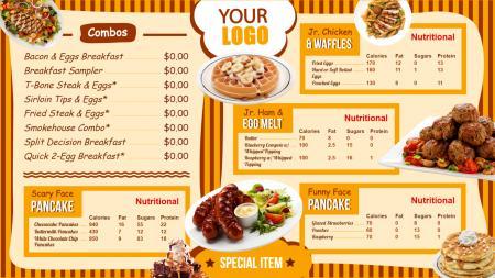kids menu board | Digital Signage Template