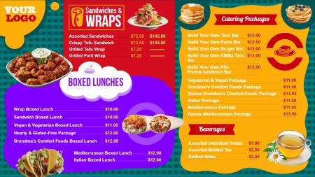 kids menu template | Digital Signage Template