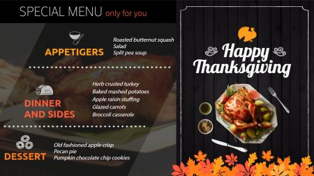 Takeaway menutemplate | Digital Signage Template