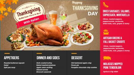 Bar and grill menu templates   Digital Signage Template