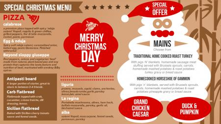 festive menu boards | Digital Signage Template