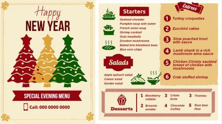 Restaurant menu templates | Digital Signage Template