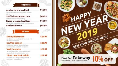 Catering menu boards   Digital Signage Template