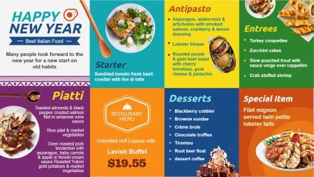 festive menu boards   Digital Signage Template