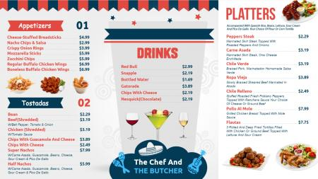 Qsr menu boards | Digital Signage Template