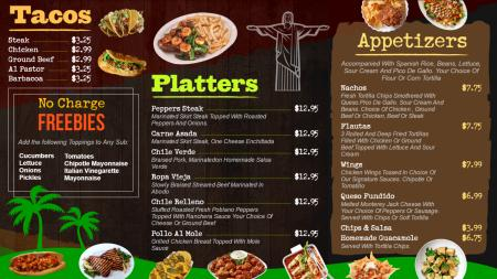 Bistro grill menuboard | Digital Signage Template