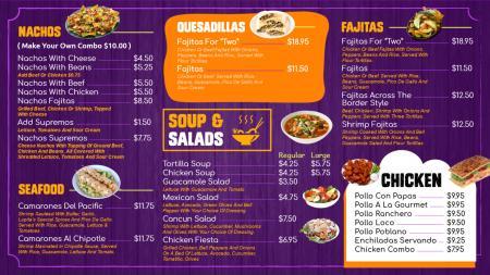Takeaway menu template   Digital Signage Template