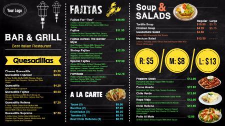 Chalk menu board | Digital Signage Template